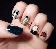 Doctor who, 11 doctor, nail designs