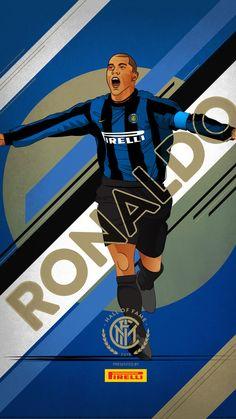 Ronaldo of Inter Milan & Brazil wallpaper. Milan Football, Football Art, Chelsea Football, World Football, Football Program, Ronaldo Inter, Ronaldo 9, Ronaldo Football, Brazil Wallpaper
