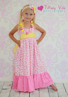 Boutique Maxi Dress Sewing Pattern... If @Amy Lyons Lyons Lyons Jensen has a girl, @Katie Schmeltzer Schmeltzer Schmeltzer Jensen needs to make this happen!