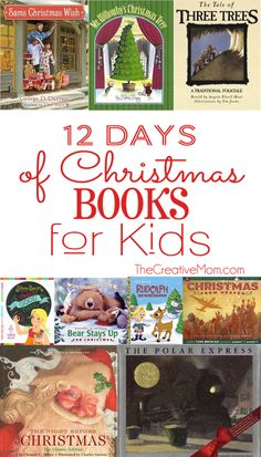 12 Days of Christmas Books for Kids. Best Christmas books you can buy on amazon for toddlers and children. From TheCreativeMom.com