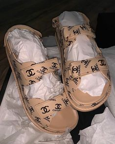Cute Sandals, Shoes Sandals, Shoes Sneakers, Sneakers Fashion, Fashion Shoes, Chanel Sandals, Mary Janes, Aesthetic Shoes, Hype Shoes