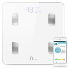 1byone Digital Smart Wireless Body Fat Scale with IOS and Android App to Manage Body weight, Body Fat, Water, Muscle Mass, BMI, BMR, Bone Mass and Visceral Fat, White >>> Read more reviews of the product by visiting the link on the image.