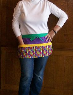 Puzzle Pieces Utility Apron  Jigsaw Tool by SusiesTieOneOnAprons