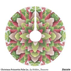 Christmas Poinsettia Palm Leaves Mandala Brushed Polyester Tree Skirt Christmas Mandala, Christmas Poinsettia, Christmas Tree, Christmas Ornaments, Holiday Cards, Holiday Decor, Tree Stump, Holiday Festival