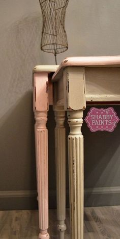 DIY:: Nesting Tables Get New Life With Shabby Paints