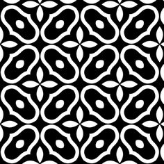 Mosaic - Black © 2010 fabric by inscribed_here on Spoonflower - custom fabric