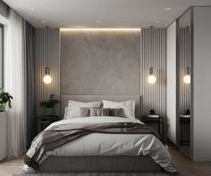 30 Minimalist Bedroom Decor Ideas that are Not Too much but Just Enough - Hike n. 30 Minimalist Bedroom Decor Ideas that are Not Too much but Just Enough - Hike n Dip decoration design Men's Bedroom Design, Home Decor Bedroom, Bedroom Furniture, Bedroom Colors, Bedroom Headboards, Tall Headboard, Bedroom Tv, Bedroom Plants, Bedroom Curtains