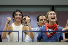 Kendall and Gigi attend the Williams sisters match of the 2015 US Open