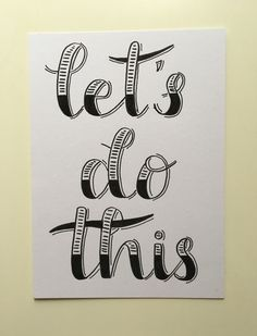 Handlettering let's do this