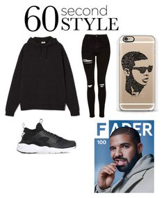 """""""Untitled #12"""" by tysontae ❤ liked on Polyvore featuring NIKE, Topshop, Casetify, men's fashion, menswear, DRAKE, views and 60secondstyle"""