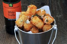 Parmesean Truffle Tator Tots.  **Repinning from my Potato-licious Board because who doesn't love potatoes!