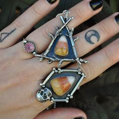 Candy corn rings from Dark Fawn