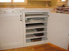 Baking pan storage, love it