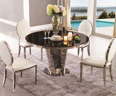 Aliexpress.com: Compre Sala de jantar mesa de vidro mesa redonda 825 T de confiança furniture reproduction fornecedores em Bosyo Furniture