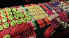 Samples of calaveras de azúcar cookies donated by MAYAHUEL at the Museum's Day of the Dead party on Oct. 25, 2013.