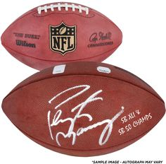 "Peyton Manning Denver Broncos Autographed Pro Football with ""SB XLI/SB50 Champs"" Inscription"