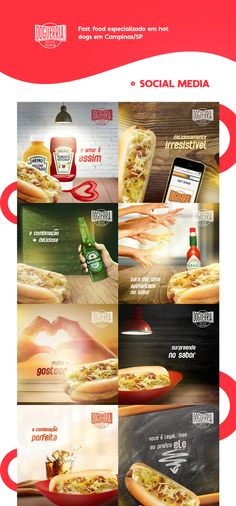 Social media campaign developed to a hot dog franchising company named Doguerria. Social Media Challenges, Social Media Branding, Social Media Banner, Social Media Template, Social Media Content, Social Media Design, Social Media Marketing, Food Graphic Design, Food Design
