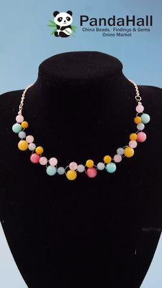 Diy Necklace Designs, Diy Jewelry Necklace, Handmade Wire Jewelry, Diy Crafts Jewelry, Bracelet Crafts, Handmade Jewelry Designs, Bead Jewellery, Beaded Jewelry, Wire Jewelry Making