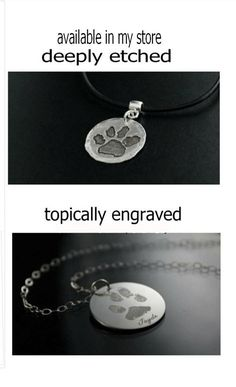 YOUR Pets Actual Dog Cat Pet Paw Print or by StampedByTheHeart