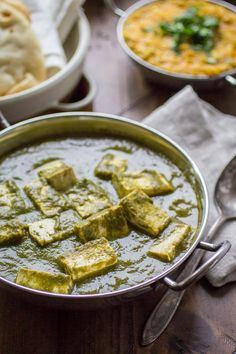 Vegan Palak Paneer: Swapping tofu for cheese is an easy way to turn Palak Paneer into a plant-based favorite.