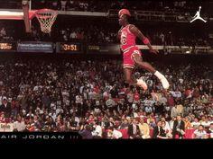 """His Airness"" my favorite MJ shot. NBA Slam Dunk Contests (1984)"