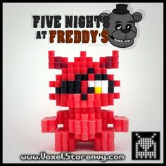 Foxy 3d voxel perlerbead (five nights at freddy's)