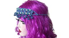 Hippy Headband, Festival Hippie Hairband,  Woodstock Headband,  Braided Beaded, Knitted Crochet by thekittensmittensuk on Etsy