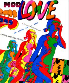 "Speaking of Psychedelic Comics: ""Mod Love,"" 1967 Love Cover, Cover Art, Oliver Hibert, Pop Art, Romance Comics, Vintage Comics, Funny Vintage, Vintage Ads, Vintage Prints"