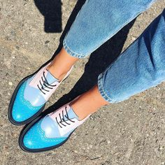 I'm in love with them.  I N C H 2 handcrafted pair of shoes.