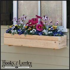 Standard Cedar Wood Window Box