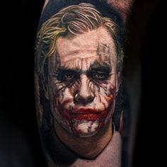 Heath Ledger, The Only Joker Joker Tattoos, Movie Tattoos, Cool Tattoos, Geek Tattoos, Awesome Tattoos, Joker Batman, Joker Heath, Symbol Tattoos, Whale Tattoos