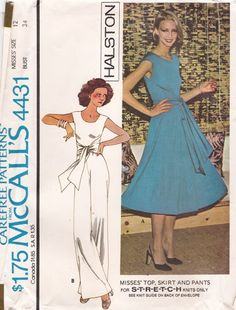 M4431A Vintage Dress Patterns, Dress Sewing Patterns, Vintage Dresses, Vintage Outfits, Vintage Fashion, Vintage Clothing, Diy Dress, Dress Skirt, Infinity Dress