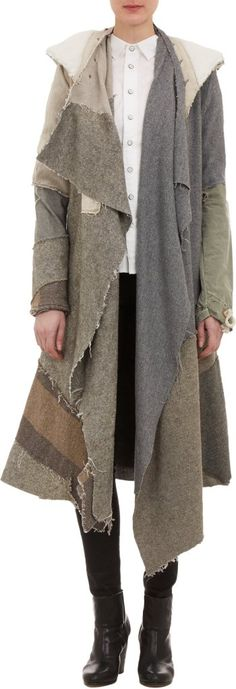 Greg Lauren Deconstructed Nomad Coat at Barneys New York Look Fashion, Womens Fashion, Fashion Design, Vintage Military Jacket, Military Coats, Mode Mantel, Apocalyptic Fashion, Altered Couture, Refashioning