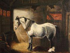 Antique Equestrian Paintings   Antique VICTORIAN CART HORSE OIL PAINTING   ANTIQUES.CO.UK  