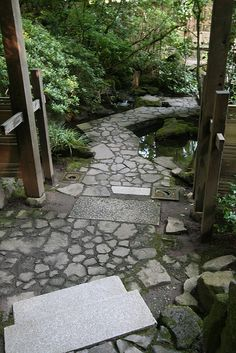 Stone pathway at Japanese Garden in Portland by Gardening in a Minute, via Flickr ( flickriver.com/photos/gardeninginaminute/tags/japanese/, 2013 )