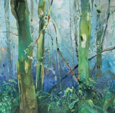 Rainforest Spring 2 - Northwest yupo watercolor, painting by artist Randall David Tipton