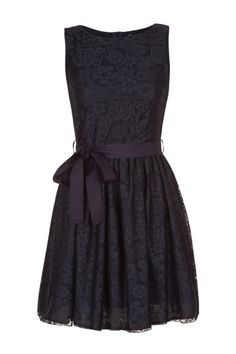 nafnaf dark blue lace dress.. So cute.  Maybe with a burnt orange bow for the belt?