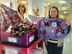 """Jefferson Girl Scout Ashley Nichols made """"Komfort Blankets"""" for children in the pediatric unit at St. Clare's Hospital in D..."""