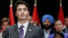 "The Canadian PM stresses his commitment to bringing in ""those fleeing persecution, terror & war""."