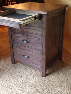 Night Stand with Locking Secret Hidden Drawer - All