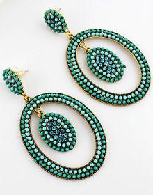 Red Drop Gemstone Gold Earrings - Sheinside.com Mobile Site