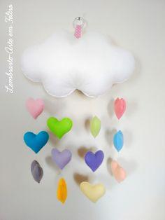 Móbile Nuvem de Corações- Collor Baby