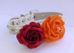 wedding dog - flower collar