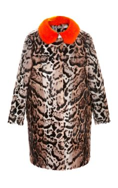Mink-Collared Goat Fur Coat by MSGM Now Available on Moda Operandi