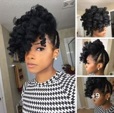 Do you need some updo inspiration for the spring and summer? Do you want a natural hair style that is at least semi protective? Then check o… - Natural Hair Styles Pelo Natural, Natural Hair Updo, Natural Hair Care, Natural Shampoo, Natural Beauty, Teen Hairstyles, Black Girls Hairstyles, Braided Hairstyles, Long Haircuts