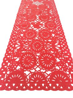 Mexican fabric Table Runner Papel Picado design Red Mexican Birthday, Mexican Party, Mexican Style, 50th Birthday, Mexican Themed Weddings, Mexican Fabric, Mexican Christmas, Fiesta Decorations, Wedding Themes