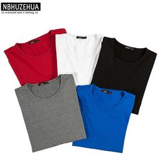 Buy now NBHUZEHUA Casual Long Sleeve T Shirt Men 2017 Spring Tee Shirt Homme Loose Oversized Solid Color White Red Basic T-shirt 1552 just only $14.74 with free shipping worldwide  #tshirtsformen Plese click on picture to see our special price for you