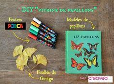 Envolée de papillons (feuilles séchées et feutres POSCA) |