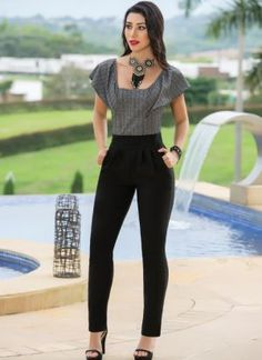 Do you want to see these designs prepared for you? Office Outfits, Chic Outfits, Spring Outfits, Fashion Outfits, Womens Fashion, Fashion Trends, Casual Chic, Casual Wear, Formal Jumpsuit