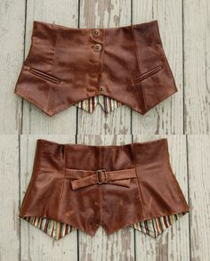 Author Gail Carriger turned a leather vest turned into a waist cincher. It might look divine over your corset! WAISTBELT , Over Clothes Diy Fashion, Ideias Fashion, Vintage Fashion, Vintage Style, Fashion Design, Steampunk Diy, Steampunk Fashion, Waist Cincher, Diy Clothing